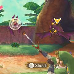 Link colpisce un Keese con la <a href=