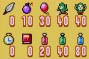 Tingle Tuner Items