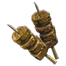 File:Breath of the Wild Food Dish (Skewers) Prime Spiced Meat Skewer (Icon).png