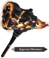 Hyrule Warriors Hammer Ingeous Hammer (Render)