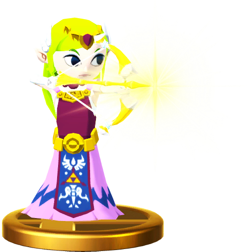 Super Smash Bros For Wii U Princess Zelda The Wind Waker Toon Trophy
