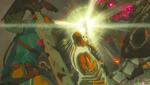 Zelda défendant Link BOTW