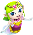 Hyrule Warriors Legends Toon Zelda Ghost Zelda (Render)