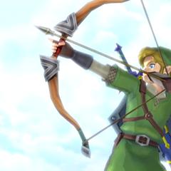 Link mentre usa l'Arco