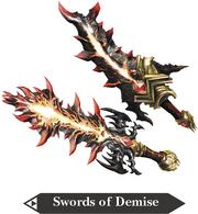 Hyrule Warriors Great Swords Swords of Demise (Render)