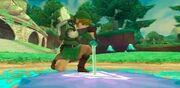 Link entrando en el Umbral del Juicio.