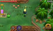 Link usando Bombas con Atuendo explosivo TFH