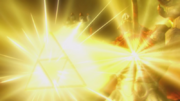 Hyrule Warriors Liberation of the Triforce Ganon defeated by the Power of the Triforce