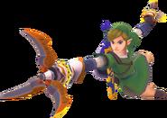 Link usando las zarpas SS