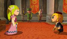 Zelda y Link Salon Trono ST