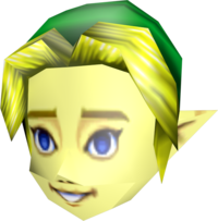 Majora's Mask Beta Link Mask (Render)