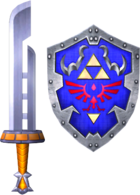 Razor Sword and Hylian Shield (Soul Calibur II)