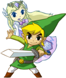 Link und Zelda Artwork(Spirit Tracks)