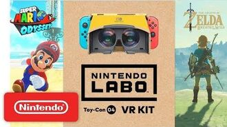 Nintendo Labo VR Kit Super Mario Odyssey Breath of the Wild