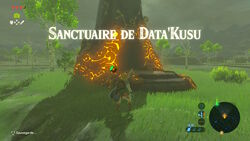 Sanctuaire de Data'Kusu BOTW