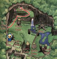 Mapa Bosque Kokiri OoT