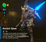 Breath of the Wild Ancient Soldier Gear (Spear) Ancient Spear (Inventory)