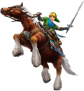 Link y Epona artwork HW