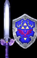 Espada Maestra y Escudo Hyliano SCII