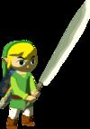 Link et machette