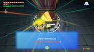 Link obteniendo un trozo de la Trifuerza.