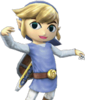 SSBb Link Cartoon Costume Bleu