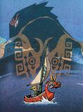Artwork WW Link, Ganondorf y Mascarón Rojo