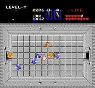 Link frente al Reloj 2 TLoZ
