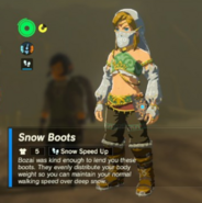 Breath of the Wild Bozai's Boots Snow Boots (Inventory)