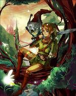 Dessin Link et Midona