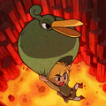 Link & Ezlo Cave of Flames