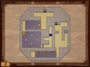 Mapa de la segunda planta del templo de los Mares ST