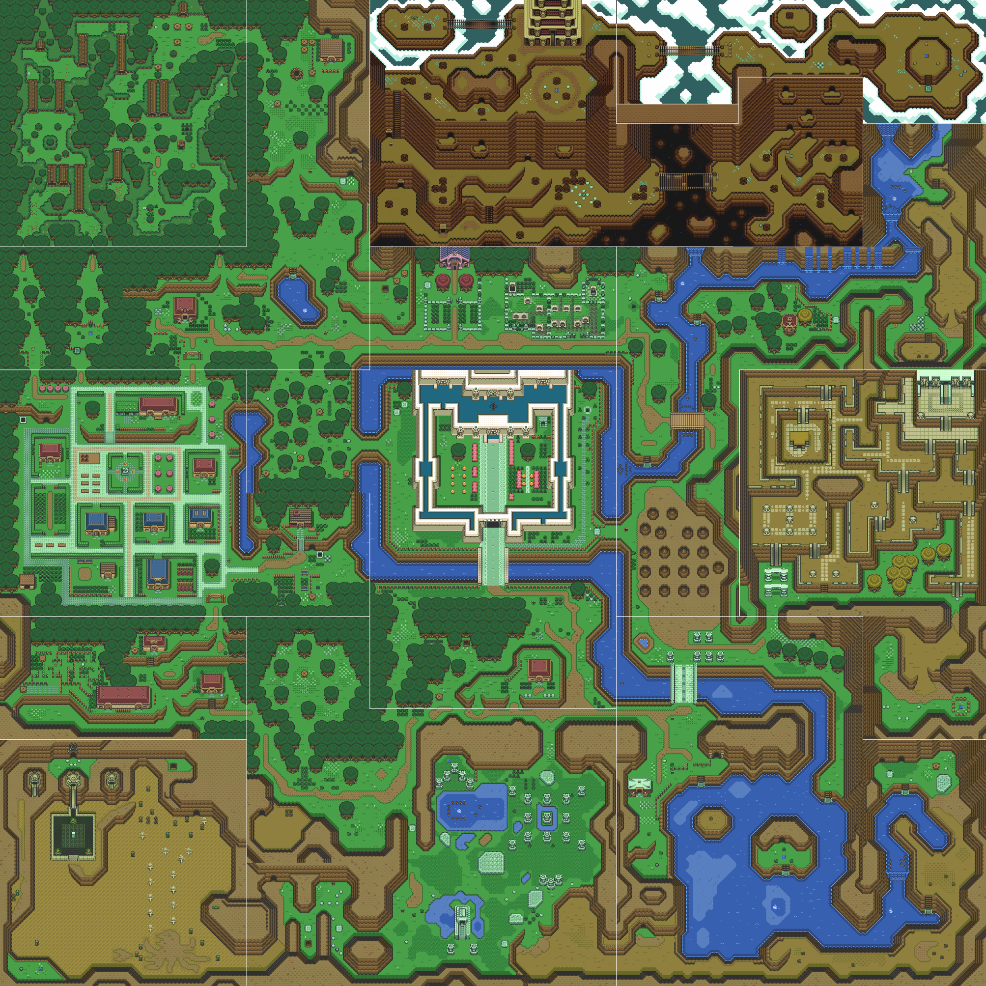 image  a link to the past overworld map (light world)png  - a link to the past overworld map (light world)png