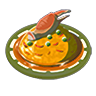 Breath of the Wild Food Dish (Omelets) Crab Omelet with Rice (Icon)