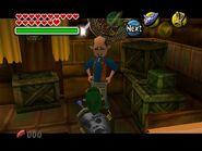 Link et le vendeur du bazar chez kafei