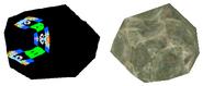 Comparación entre el modelo file1.bmd y el de una roca Twilight Princess