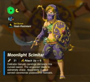 Breath of the Wild Scimitars Moonlight Scimitar (Inventory)