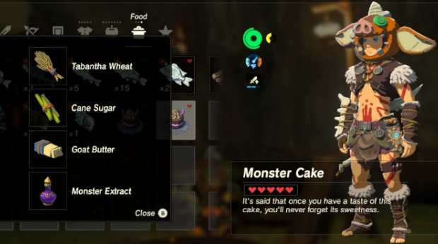 Monster Food Recipes Botw