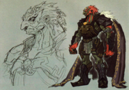 Twilight Princess Artwork Dark Lord Ganondorf (Early Concept Artwork - Hyrule Historia)