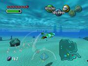 Zora-Link Schwimmen unter Wasserspiegel