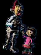 Paméla et son père