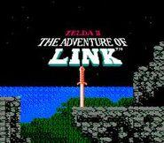 Pantalla de Incio Zelda II