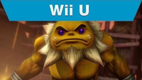 Wii U -- Hyrule Warriors Trailer with Darunia and a Hammer
