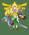 Link and his girls by magicharu-d3bswgw.png