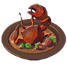 Breath of the Wild Food Dish (Crab) Crab Stir-Fry (Icon)