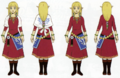 Skyward Sword Artwork Zelda - Skyloft Robes (Concept Art)