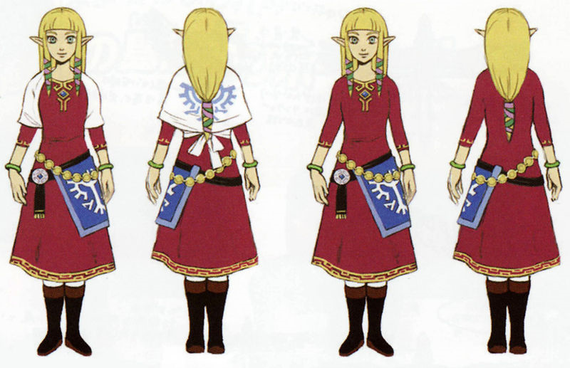 Image Skyward Sword Artwork Zelda Skyloft Robes