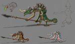 Lizalfos Concept Art BOTW