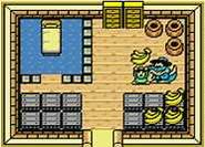 Interior de la casa del vendedor de plátanos