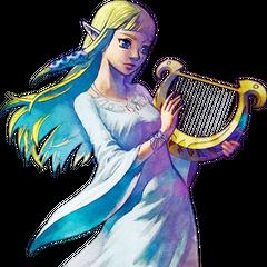 Zelda con la lira delle dee <a class=